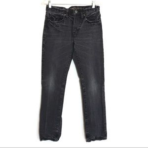 American Eagle Slim Black Straight Leg Jeans 28 32